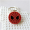 SPIN A WEB - Spiderman inspired bag tag hand cast in sparkly red resin