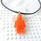 LEGO ROCKS! Orange lego man pendant hand cast in resin