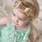 Gold metallic bow baby toddler headband