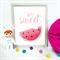 So Sweet Watermelon Print Nursery Kids Baby Playroom