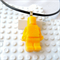LEGO MANIA - Resin Lego man pendant hand cast in sparkly yellow glitter resin