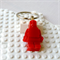 LEGO MAN BAG TAG - Handmade red resin Lego man bag tag