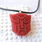 ROBOTS IN DISGUISE - Transformers Autobots inspired pendant cast in red resin