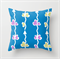 Arrows Vine Butterflies Blue Background Cushions Cover