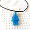 LEGO ROCKS! Aqua Lego man pendant hand cast in resin