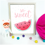 So Sweet Watermelon Print Nursery Kids Baby Playroom