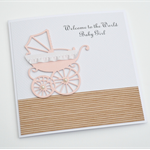 Vintage Pram - Welcome to the world Baby Girl