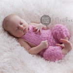 Mohair Overalls / Newborn Photography Prop / Baby Girl Gift / Romper / Pink