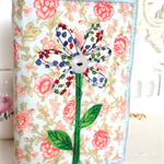 FLOWERS...handmade purse for a special gift.