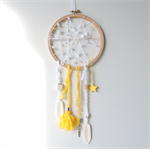 DREAM CATCHER - a dream is a wish your heart makes - yellow