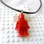 LEGO ROCKS! Red lego man pendant hand cast in resin