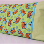 Pillowcase ~ Green & Blue