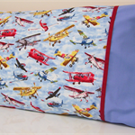 Flying Machines Pillowcase ~ Red / Blue