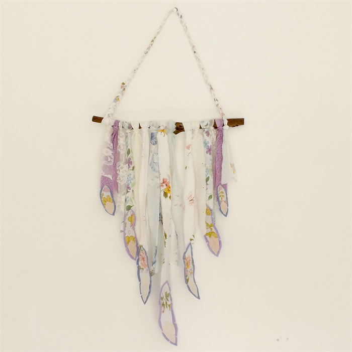 Feather Wall Hanging   Bohemian Wall Art   Recycled Fabric Wall .