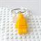 LEGO MAN BAG TAG - Handmade yellow glittered resin