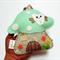 Glittery Mint Toadstool - Tooth Fairy pillow 100% pure wool felt
