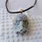 STORMTROOPER - Star Wars inspired necklace in marbled grey and white resin