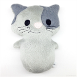 Grey Kitty Cat Rattle Toy