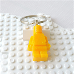 LEGO MAN BAG TAG - Handmade yellow glittered resin