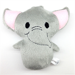 Elephant Rattle Toy Grey and Pink
