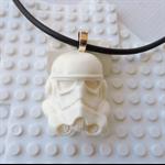 STORMTROOPER - Star Wars inspired necklace handmade in chalk white resin