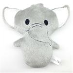 Elephant Rattle Toy Grey and White