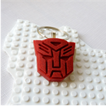 ROBOTS IN DISGUISE - Transformers Autobots inspired bag tag cast in red resin