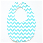 BUY 3 GET 4th FREE Aqua Chevron Bib
