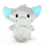Elephant Rattle Toy Grey and Blue