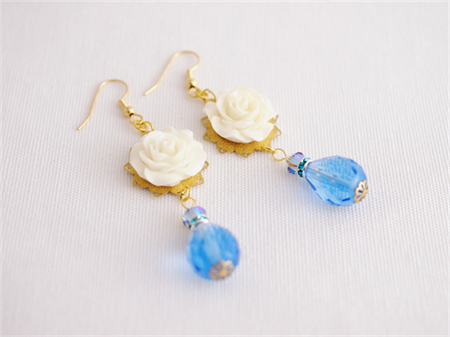 Raindrops on Roses chandelier earrings