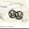 Black Feathers  Resin Stud Earrings
