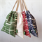 Drawstring bag SET // Organic travel bag // Handprinted drawstring bags