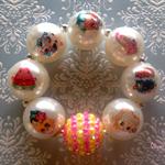 Shopkins Handmade Boutique  Bubblegum Bead Bracelet Shopkins Birthday Party