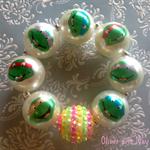 Teenage Mutant Ninja Turtles Handmade Boutique Bubblegum Bead Bracelet TMNT