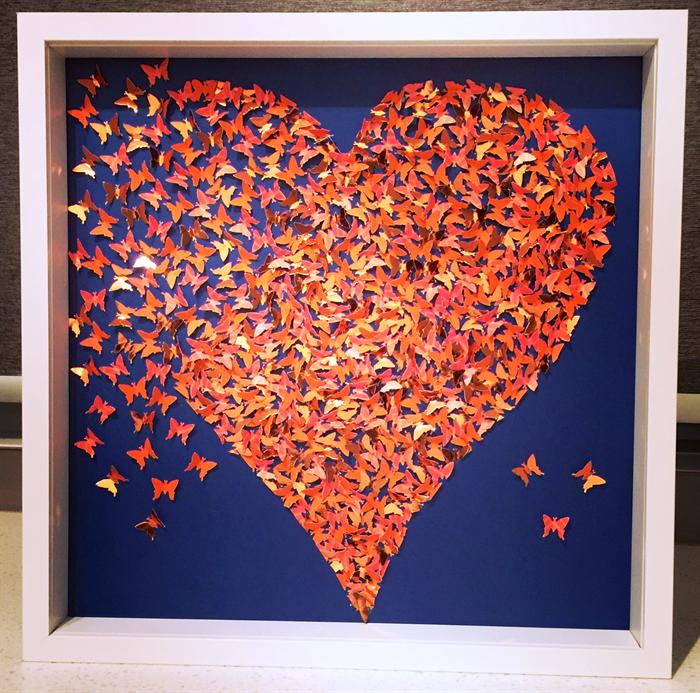 3d Butterfly Heart Wall Art Gold Heart Heart Frame