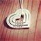 Love Heart 3 Stack /hand stamped pendant personalised for you/ jewellery