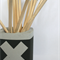 square concrete pencil holder / planter pot, black x