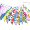 Vintage Retro Bright Multi-Colour Floral Flag Bunting. Party, Home Decoration