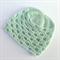 crochet baby beanie | aqua | baby shower gift | unisex newborn - 3 months