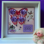 Butterfly wall art picture frame Custom Made for nurseries and girls room