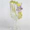 baby girl gift | crochet headband lemon shell & mauve flower | 3 - 6 months