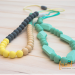 Silicone Teething / Nursing Necklaces - Neutral & Pastels, Kate & Audrey