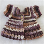 Crocheted Bella Rebekah Cardigan. Size 6-12 months