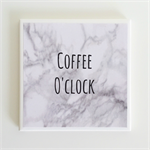 Coffee Quote Coaster - 1 Marble Ceramic Tile Drink Coaster