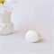 WHITE HOT - hand cast resin ring in classic white.  Size 9.5