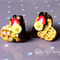 waffle polymer clay earrings