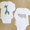 africa baby ! | onesie set | baby boy | giraffe + rhino