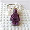 LEGO FRIENDS - Resin Lego man bag tag hand cast in glittery purple resin