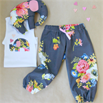 baby elephant gift set | singlet + harems + soft toy | girls size 1