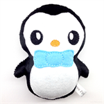 Penguin Rattle with Blue Bow tie